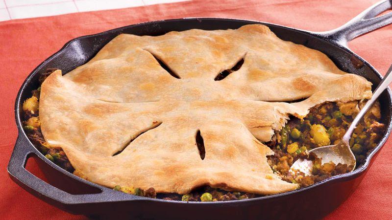 Curry Beef Samosa Pie recipe from Betty Crocker