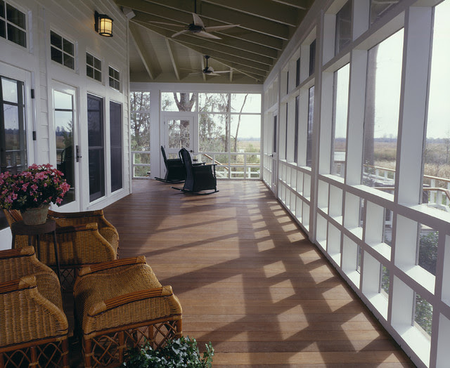 screen porch - rustic - porch - charleston - by Frederick + ...