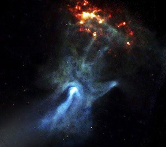 Resfriamento de neutrinos - mão no espaço