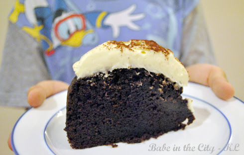 Chocolate Guinness Cake - sliced