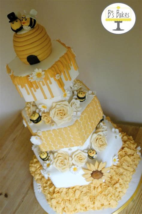 Bronze Cake international entry   Bee themed wedding cake