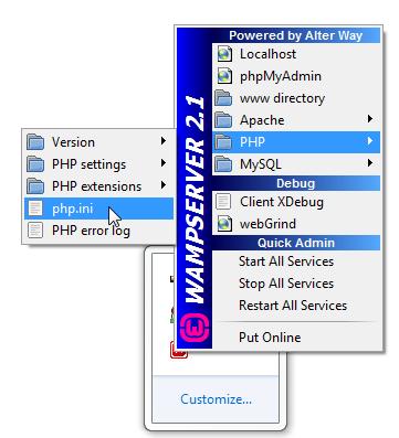 WampServer php.ini