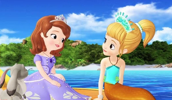 Sofia The First Sofia and Oona On The Shore