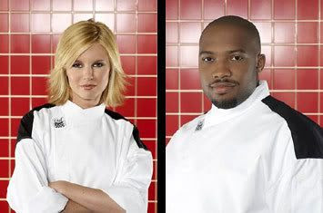 Bonnie and Rock... The two finalists in Season 3 of HELL'S KITCHEN.