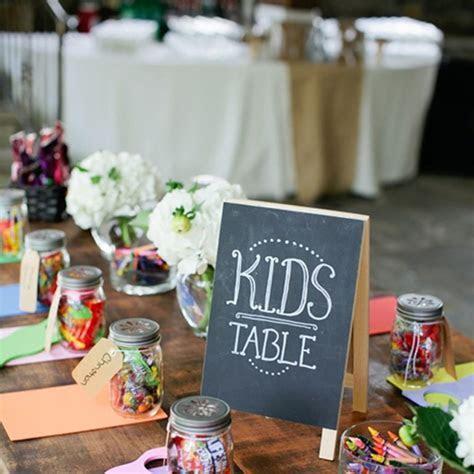 Activity Ideas for Kids at Wedding Reception   Brides