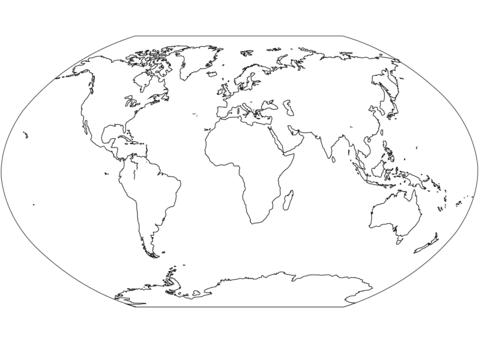 世界地図 ぬりえ
