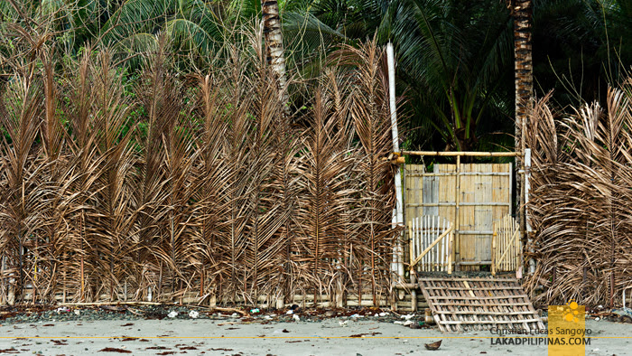 Coconut Leaf Fence in Jawili Beach at Tangalan, Aklan