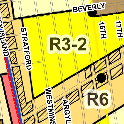 Existing Zoning, Beverley Square West