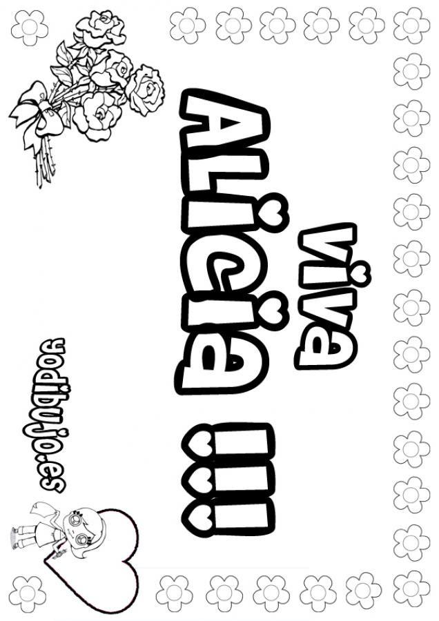 Dibujo Graffitis Alejandra Nombre