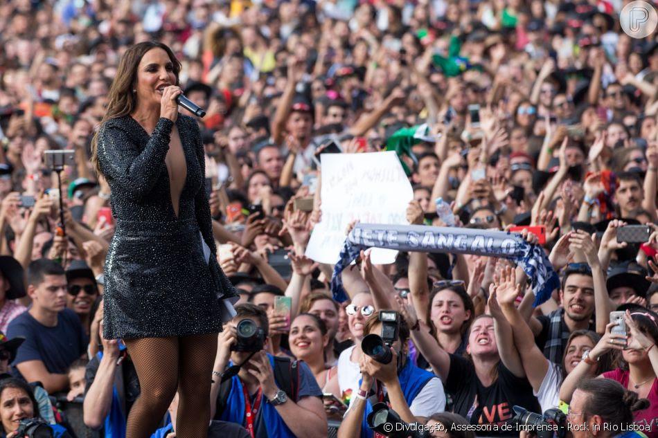 Ivete Sangalo foi atração do Rock in Rio Lisboa neste 30 de junho de 2018