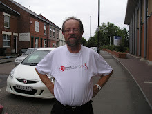 Mike in his PodCampUK t-shirt