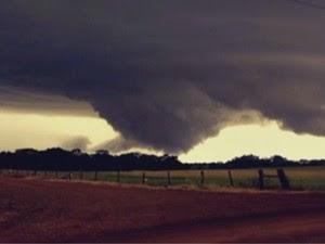 Tornado provocou danos em São Miguel das Missões (Foto: Reprodução/RBS TV)