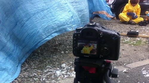 View through the camera