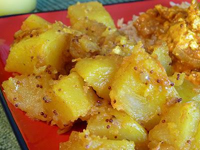 E.A.T World: India, Aloo Phujia (with mustard seeds)