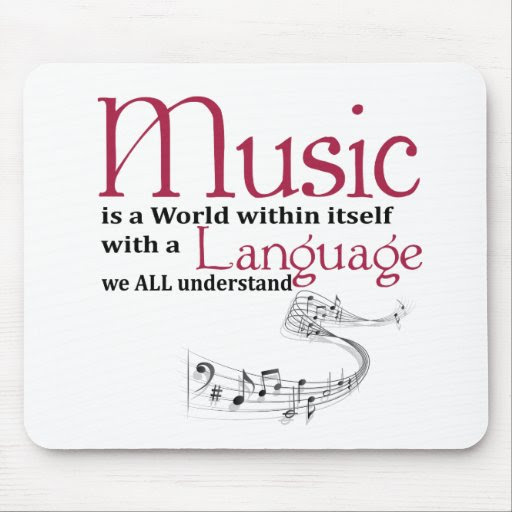 Music quote mouse pads