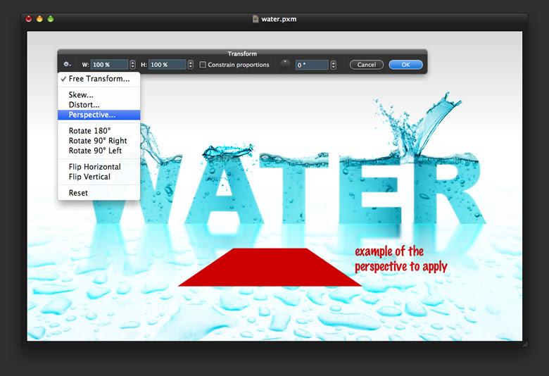 Water Text in Pixelmator