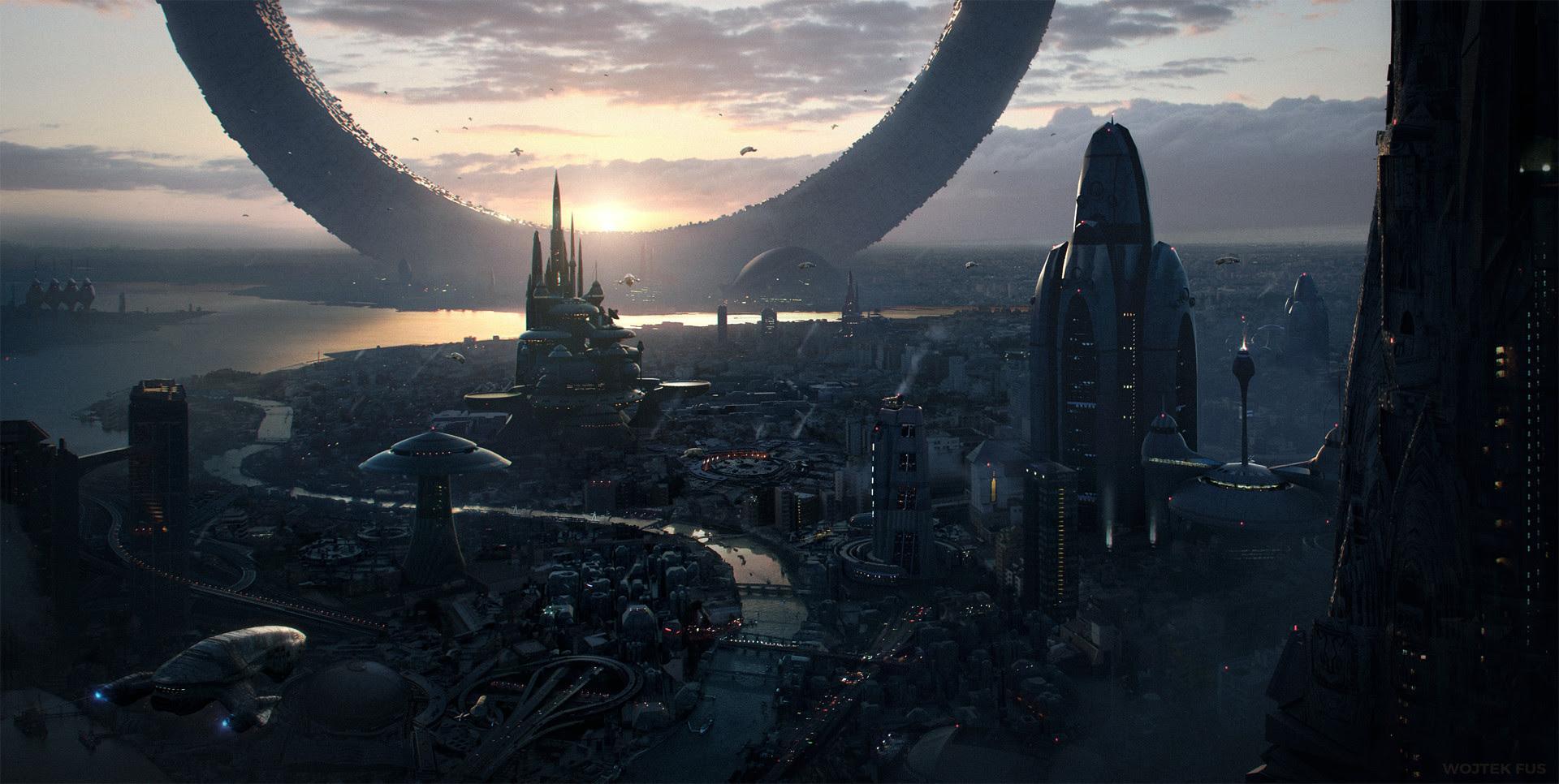 Futuristic Cityscape [1920x1080]