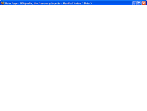 Firefox 3 Beta 5 on Windows XP main screen