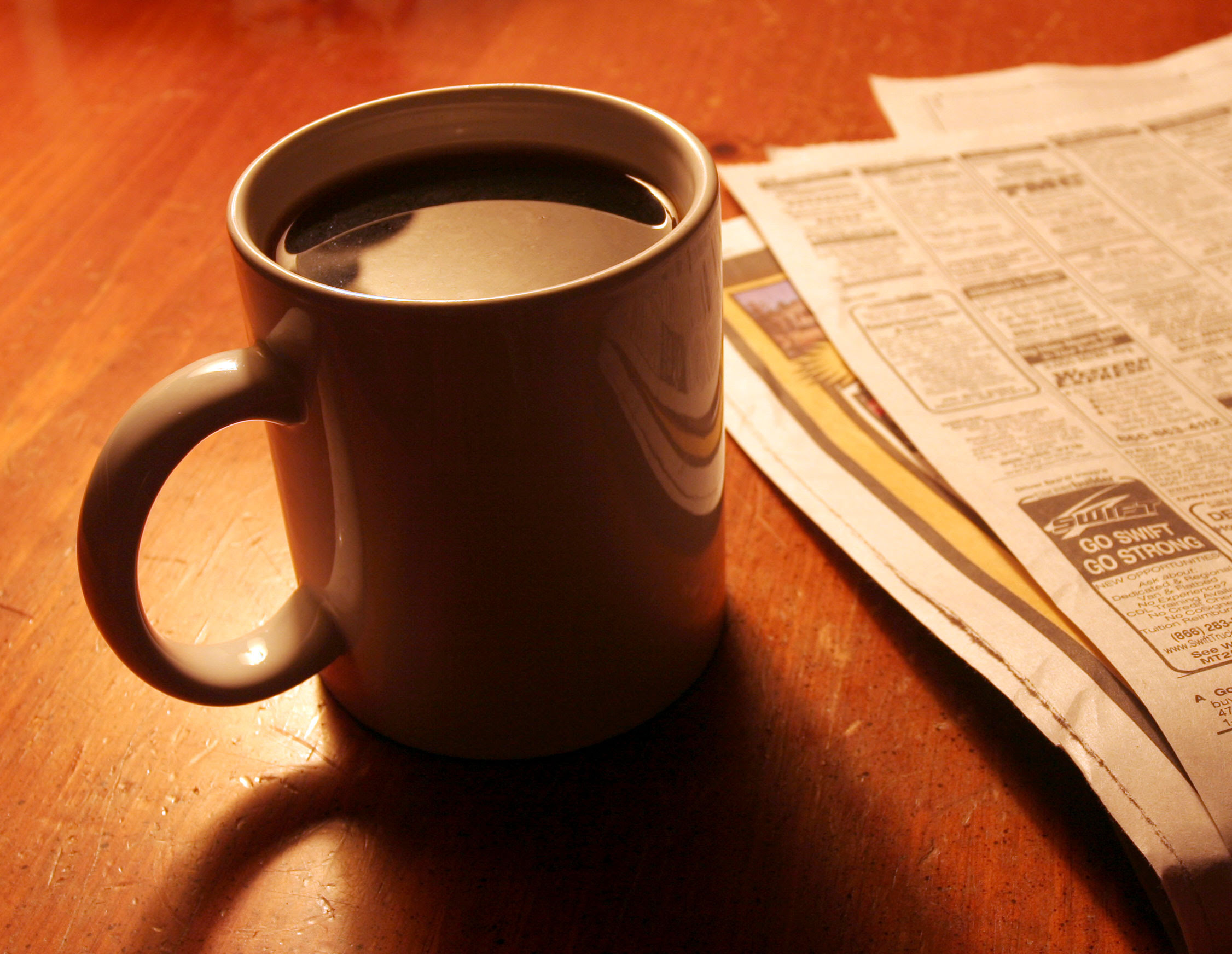 Coffee and Newspaper - Jody Robbins   Travels with Baggage