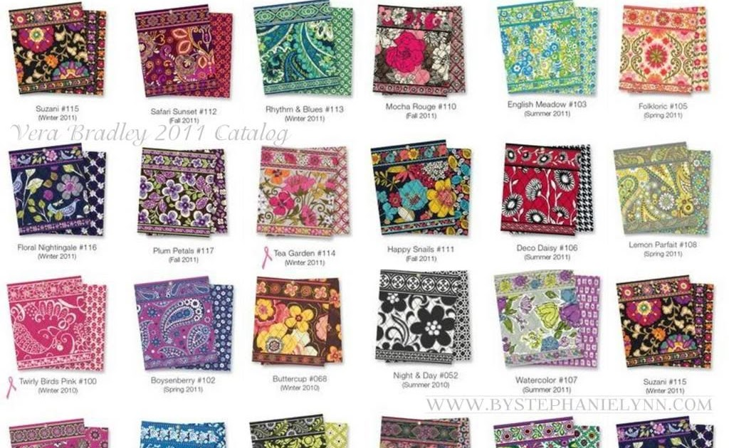 Monogram Tote Bags List Of All Vera Bradley Patterns