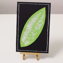 Leaf Picture Display craft for kids