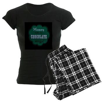 Chocolate Sings Women's Dark Pajamas