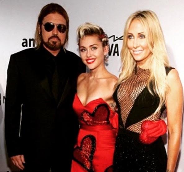 Billy Ray Cyrus, Miley Cyrus e Tish Cyrus (Foto: Instagram)