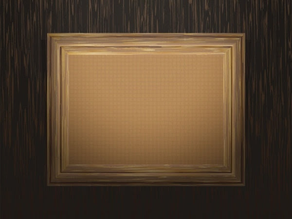 classic_wood_frame_03_vector_ ...