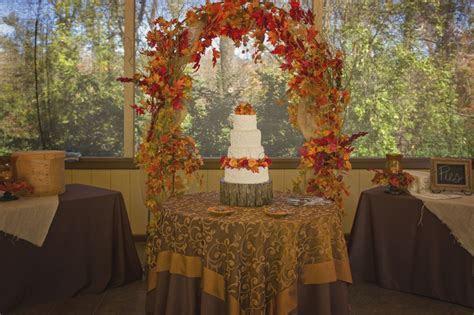 Cake Table Outdoor Fall Wedding   wedding reception decor