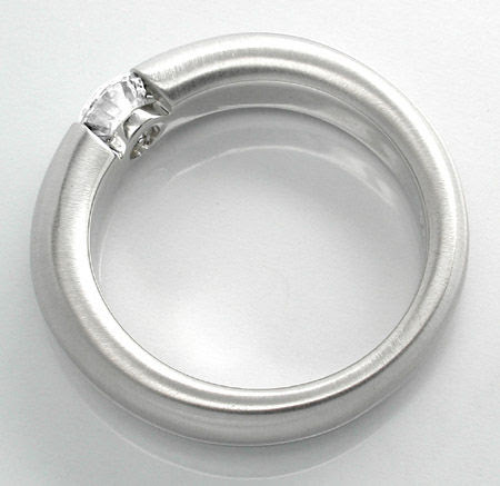 Foto 2, Neu! Brillant-Spann-Ring, River VS 18K Luxus! Portofrei, S8680