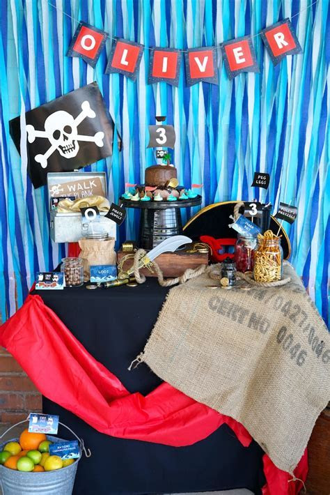 Kara's Party Ideas Classic Pirate Birthday Party   Kara's