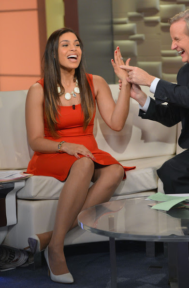 Jordin Sparks - Celebs Drop by 'FOX & Friends'