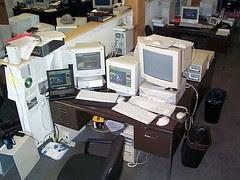 my first desk at MegsINet