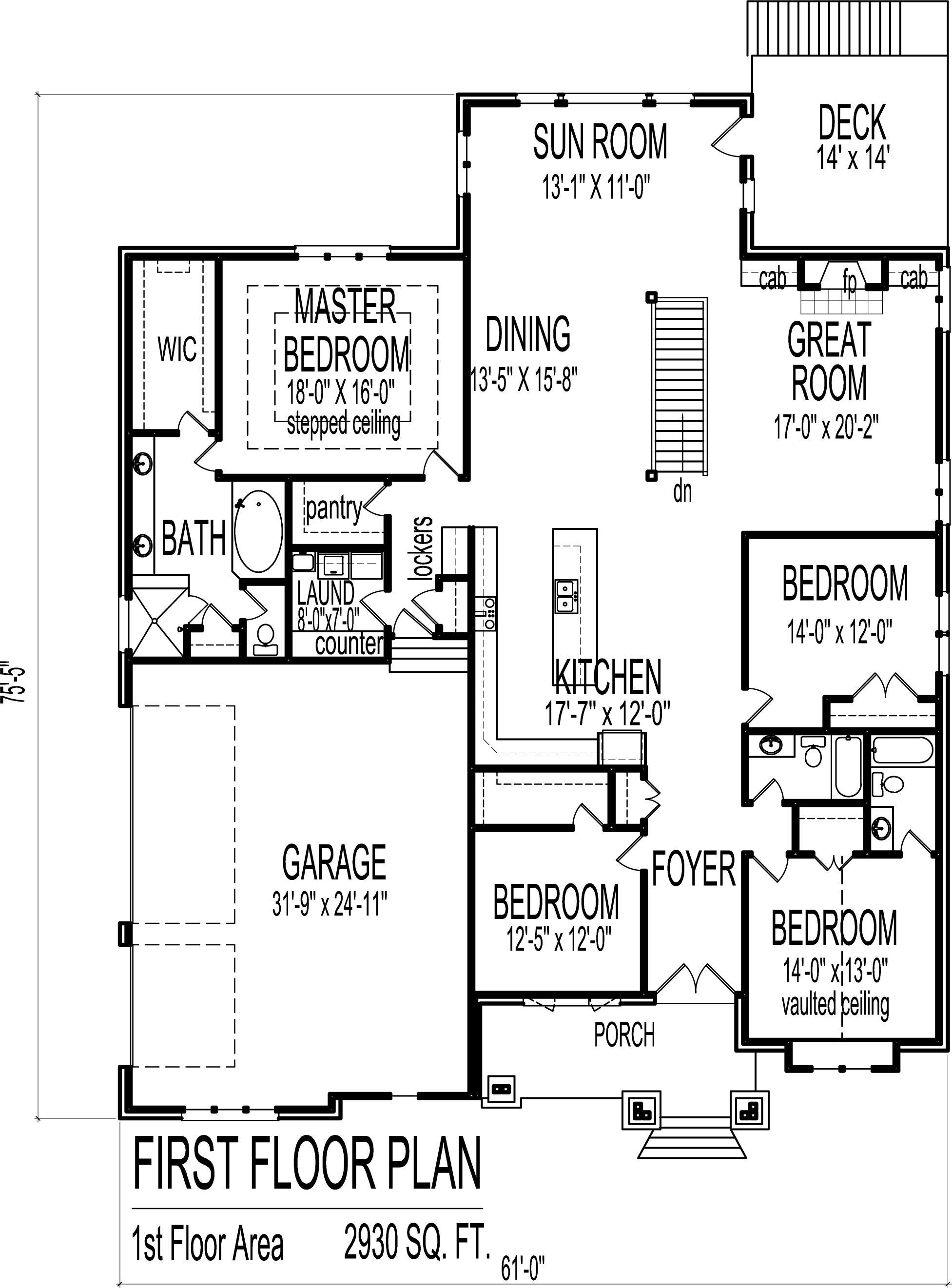 Floor Plan 4 Bedroom Bungalow Mangaziez