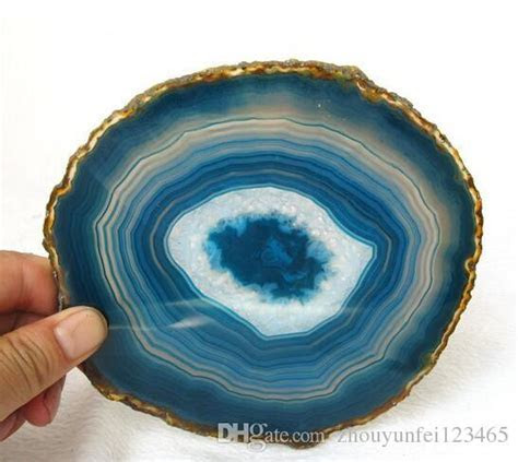 Wholesale Beautiful Natural Blue Agate Slice Healing