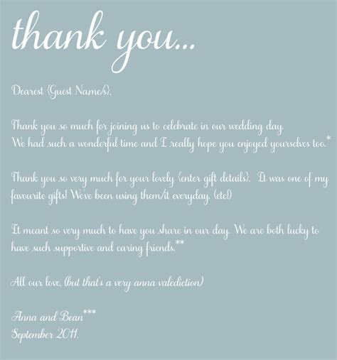 Wording For Wedding Thank You Cards Parents #4   Hopefully