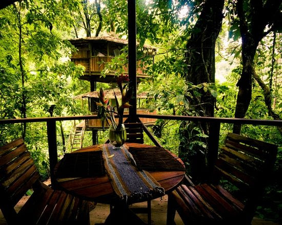 "The community of 'Finca Bellavista' (named after the river that passes through) is a gorgeous residential community filled with custom-built treehouses! Located in a rural area near the south Pacific coast of Costa Rice, accessing Finca Bellavista is done via the local ""SkyTrail transportation network"" (which is mainly ziplines and a few bridges) . . ."