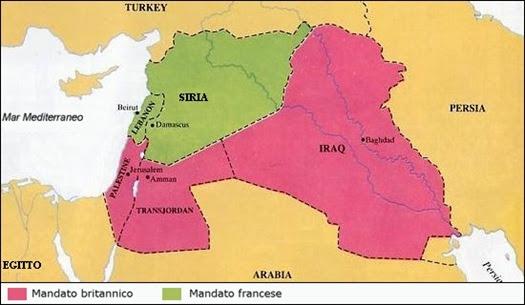 La spartizione del Medioriente