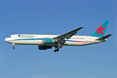 First Choice Airways Boeing 767-324 ER G-OOBK (msn 27392) LGW (Antony J. Best). Image: 902082.