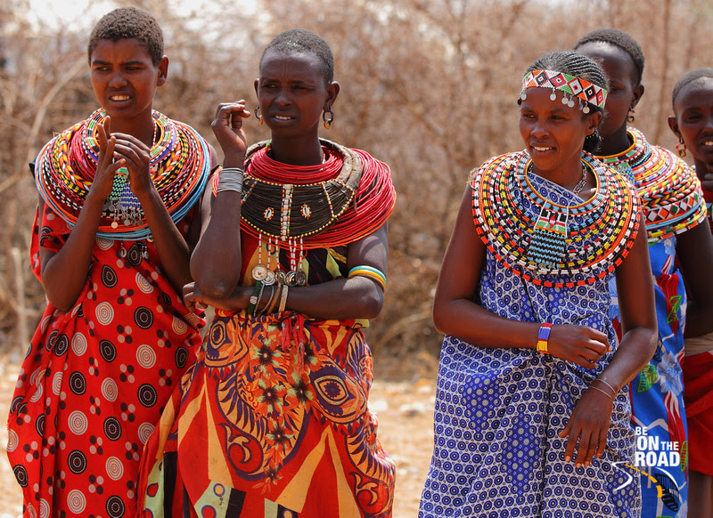 A rich dash of colour on all the Samburu women