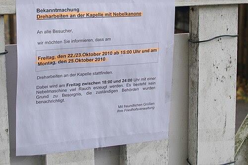 Kirchhof stahnsdorf nebelarbeiten ohne adresse