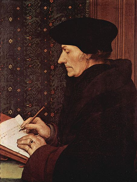 Desiderius Erasmus Roterodamus, also known as Erasmus of Rotterdam by Hans Holbein
