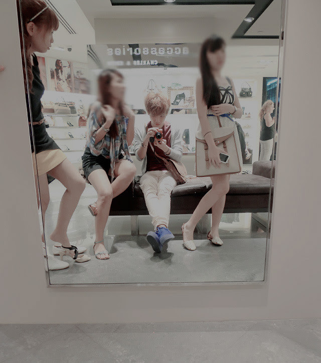 the girls while shopping