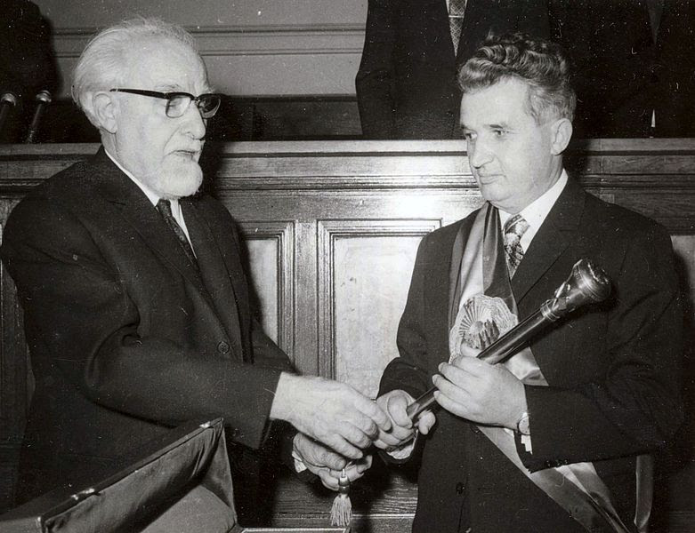 File:Ceausescu receiving the presidential sceptre 1974.jpg