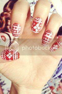 fair isle nail art tutorial