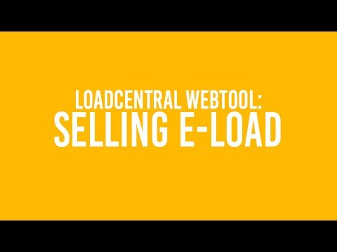 Sell e-Load via LoadCentral Webtool