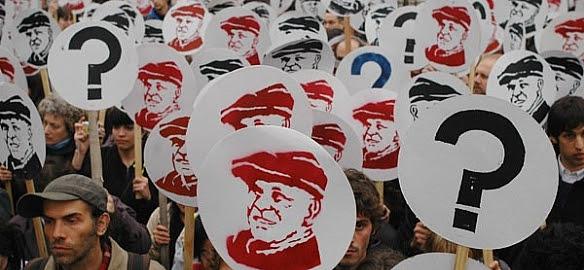 Fig. 3: Marcha por la aparición con vida de Jorge Julio López. Fuente: Diario Inédito.