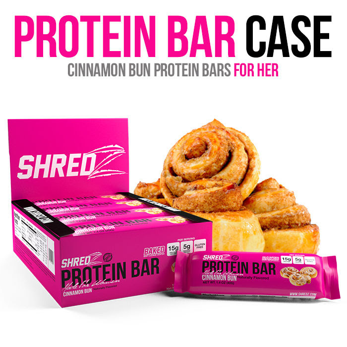 SHREDZ Protein Bars - For HER - Baked & Soft, 15g Protein ...