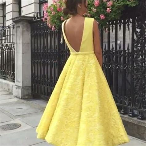 Fabulous Wedding Guest Dress Light Yellow Sexy Plunging