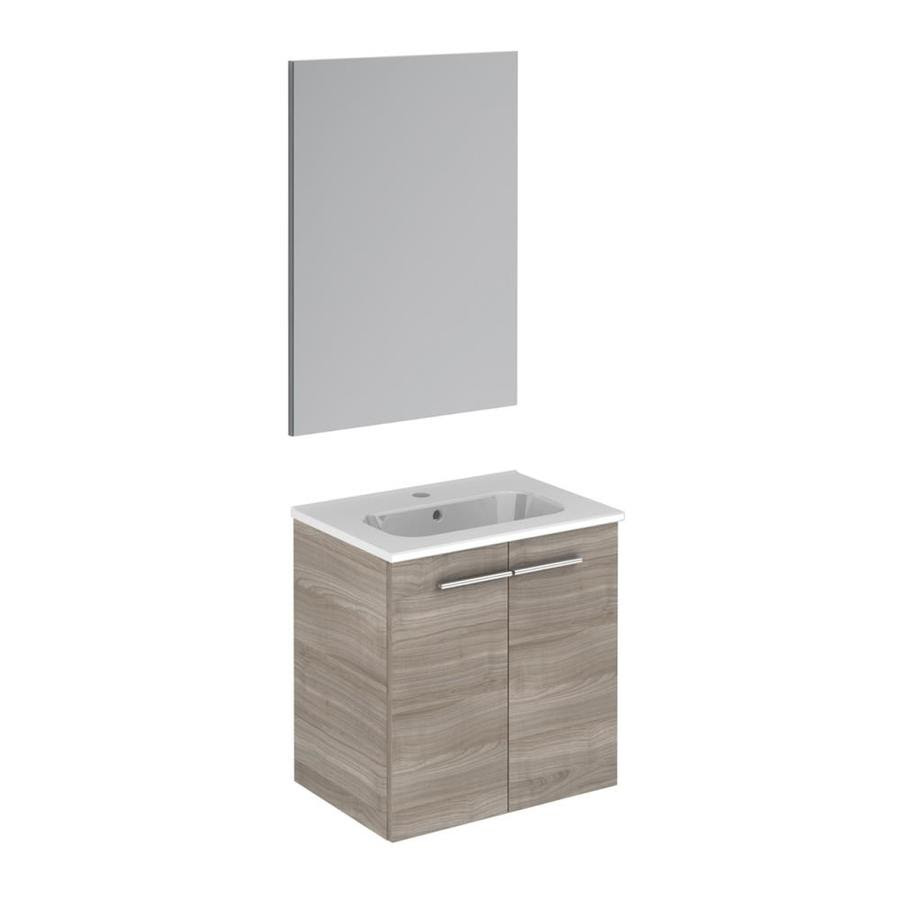 Ws Bath Collections Start 20 In Sandy Gray Single Sink Bathroom Vanity With Ceramic White Ceramic Top Mirror Included In The Bathroom Vanities With Tops Department At Lowes Com